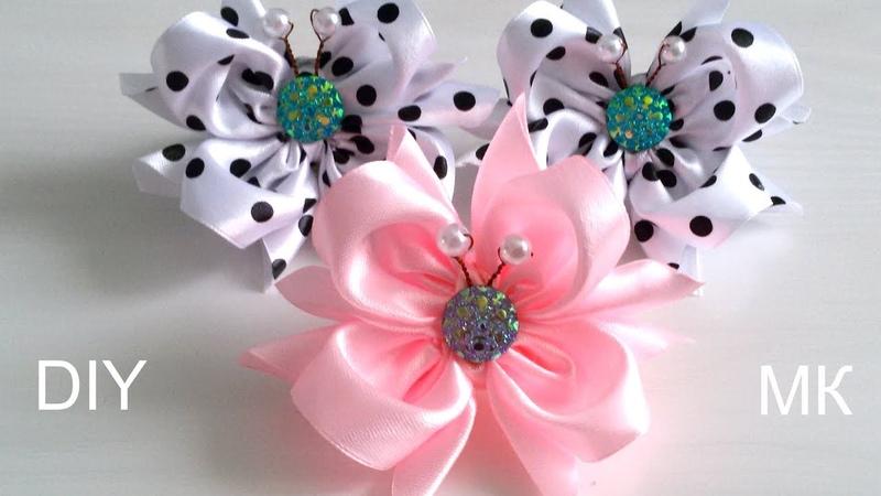 Бабочки Бантики из атласной ленты 5 см Канзаши 2019 Laço de Cetim DIY Satin Ribbon bow