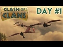 School of Dragons Clash of Clans - Day 1 Livestream