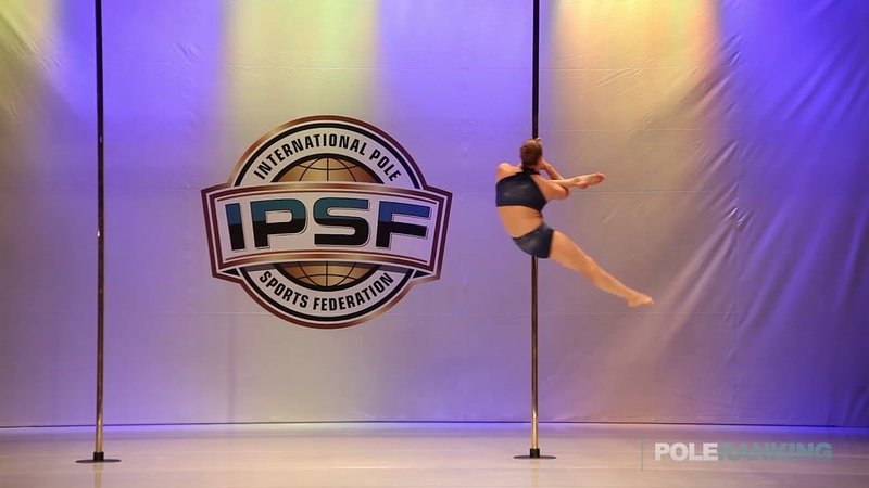 Junior Girl Aleksandra Makarova of Russia - IPSF World Pole Sports Championships 2018