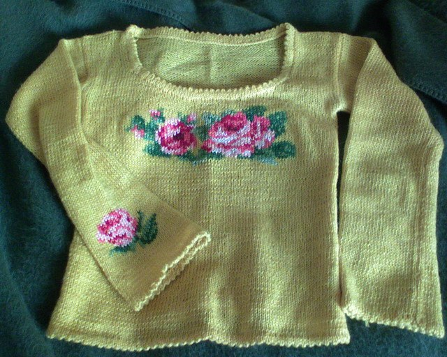 Вышивка по вязаному полотну мастер-класс