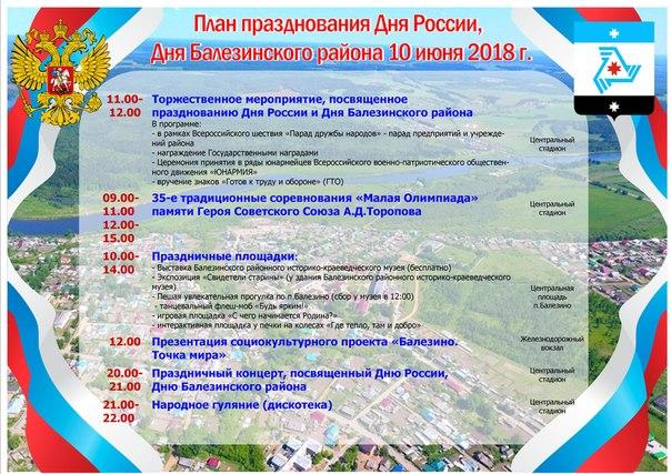 «Парад дружбы народов России»  В этом году Балезинский район