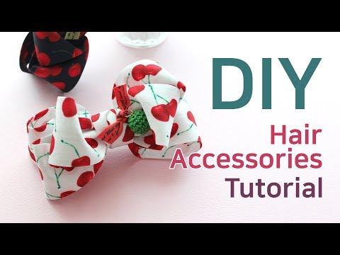 리본공예 DIY/How To Make Hair Accessories/handmade hair accessories/HairBow Tutorial/귀여운 헤어핀 만들기/리본공예
