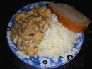 Сливочный соус с грибами и курицей