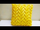 SMOCKING PATTERN cushion with moti bead zipper cover making caption in hindi passo a passo cojin