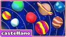 Como Hacer Planetas de Plastilina Play Doh Planets by Hooplakidz Castellano
