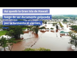 Así se ve la isla grande de hawaii tras el paso de la tormenta lane
