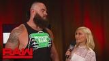 WBSOFG Braun Strowman addresses the Triple Threat Matches Raw, July 16, 2018