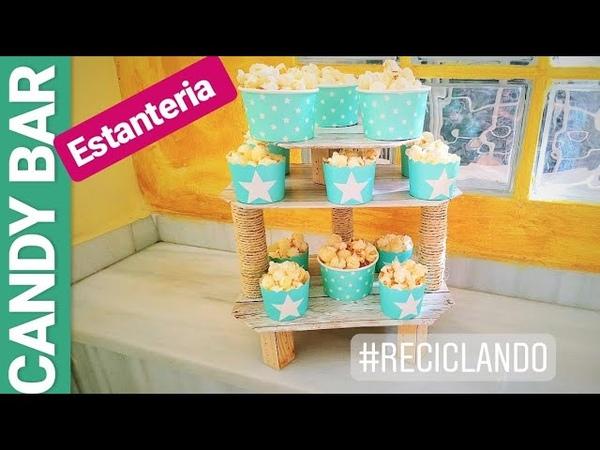 Estantería Candy Bar | Reciclando Caja De Fresas| Decoración Rústica