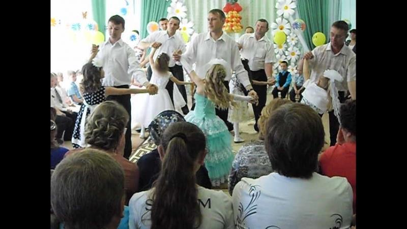 Танец пап и дочек выпускной в детском саду 2015г