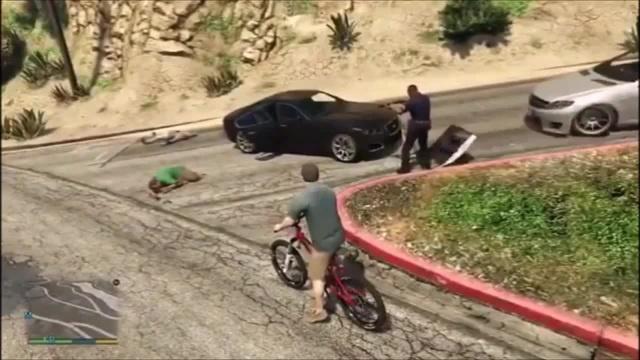 Police snowboarding GTA 5