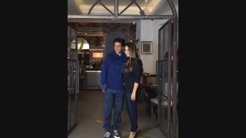 Shahrukhkhan gaurikhan at the launch of new restaurant designed by gaurikhan herself