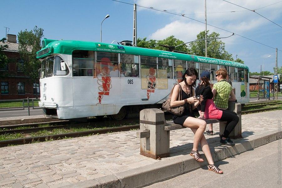 Трамвай в Даугавпилсе РВЗ-6 КТМ-5М Латгалия Латвия