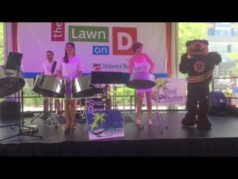 Boston Bruins Blades shares stage with Steel Rhythm at the Lawn on D - Jump in the Line -