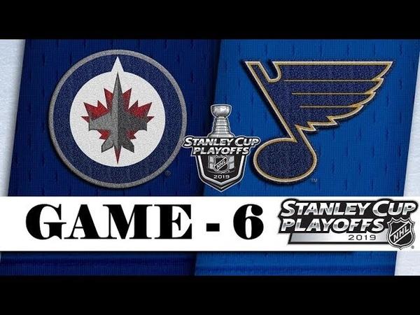 Winnipeg Jets vs St. Louis Blues | Apr.20, 2019 | Game 6 | Stanley Cup 2019 | Обзор матча