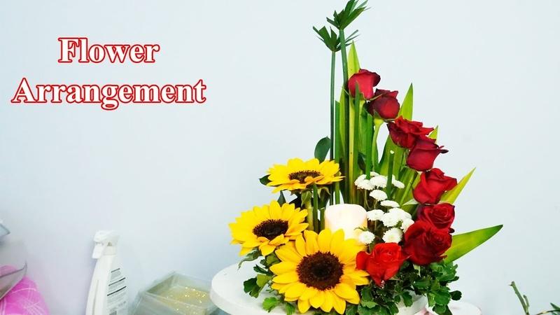 Cắm bình hoa hồng đẹp đơn giản Cắm hoa bàn thờ 213
