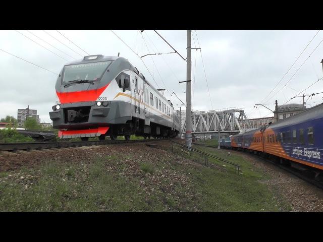 Электровоз ЧС7-039, электропоезд ЭП2Д-0008 ЦППК