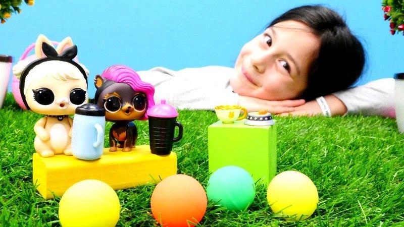 LOL Bebek Sürpriz Yumurta açıyoruz Evcilik oyunu
