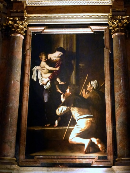 «Богоматерь Лорето», Караваджо ок. 16041606гг. Холст, масло. Размер: 260 × 150 см. церковь Сант-Агостино, Рим Посетив летом церковь Сант-Агостино, для которой ему предстояло написать образ