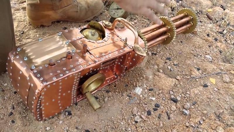 Самодельный пулемёт Гатлинга