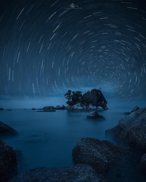 Звездный след (остров Пенанг, Малайзия)