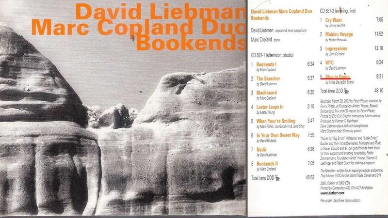 Dave Liebman Marc Copland Blue In Green