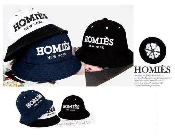 Панама Homies темно-синяя и черная.