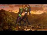 Shinji wrecks Asuka (From Evangelion 2.0, not the original series where it was Toji)