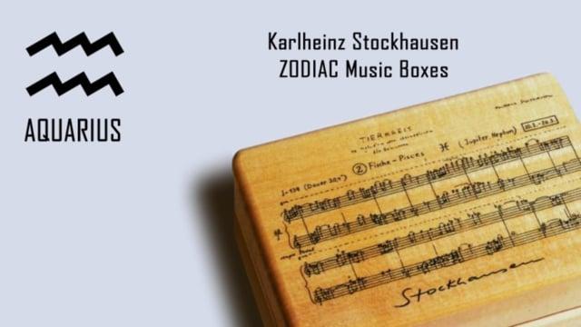 Stockhausen Zodiac Music Boxes AQUARIUS