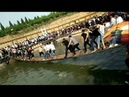 People Shake the bridge Insane until fall into water funny videos fail video prank video