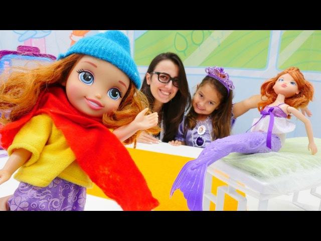 Eğiticivideo Prenses Sofıa👸DENİZKIZI🧜♀️olmuş! Dönüştürme doktoroyunları kız çocuklar için