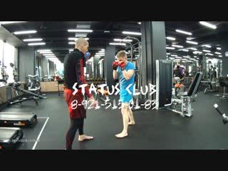 Индивидуальная тренировка Дима - Левый прямой в голову - Подготовка бойца. Мурманск