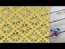 Point fleurs ajouré crochet Punto flores caladas tejido a crochet
