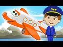 САМОЛЕТ Детская Песня про Воздушный Транспорт Песенка Клип для Детей МУЛЬТИКИ про САМОЛЕТЫ