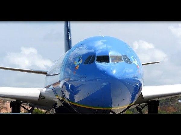 Push e decolagem do A330 (PR-AIT) da Azul - 002