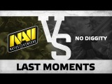 WATCH FIRST: Last moments - Na`Vi vs No Diggity @ ESL One Qualifier