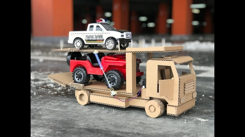 How to Make a Car Transporter. Cardboard toy. DIY