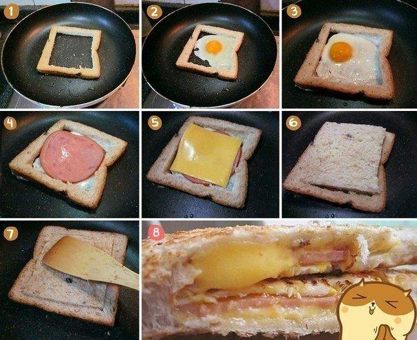 Концепция быстрого завтрака.