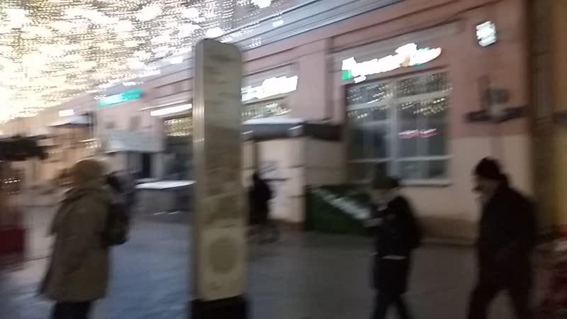 30.12.18 23ч32мин. Работаем с Лёшей. Улица Рождественка (у метро Кузнецкий мост).