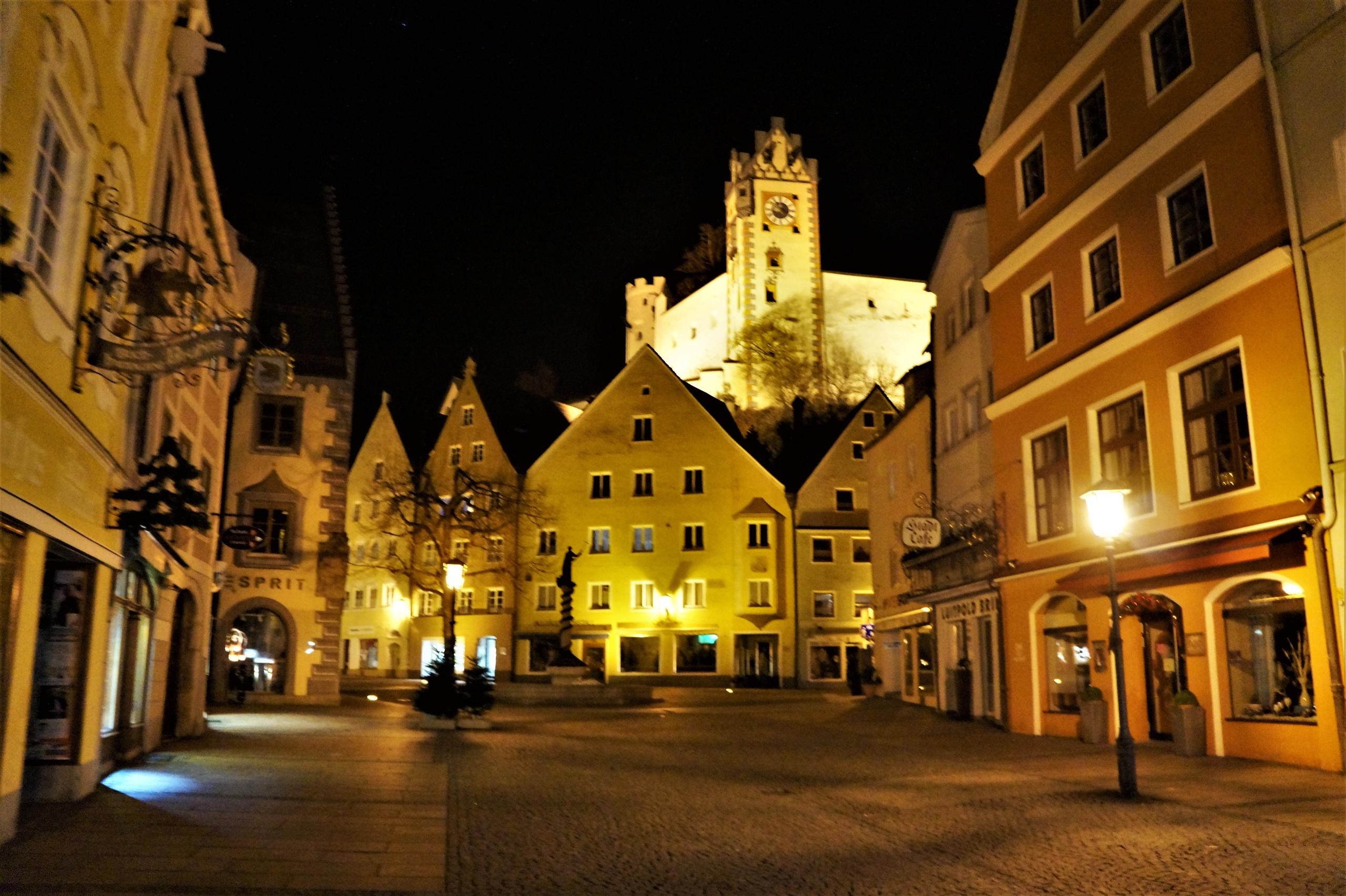 Ночь в Баварских Альпах