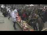 Акция памяти погибших при пожаре в ТЦ в Кемерово на Манежной площади в Москве