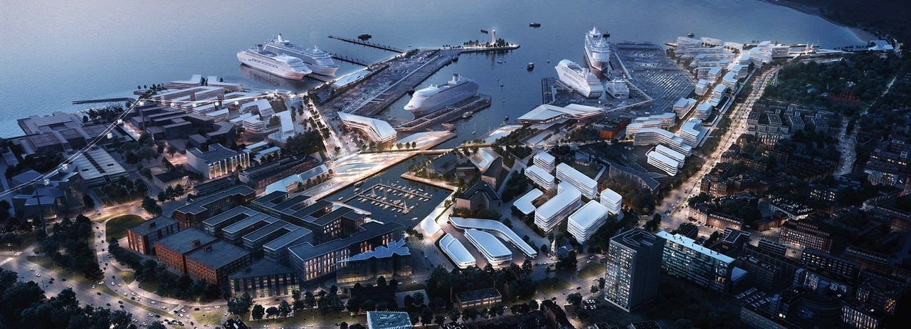 Zaha Hadid architects to transform tallinn's old city harbour with 'streamcity' proposal