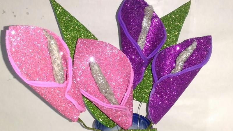 Glitter Foam Sheet Flower Making!