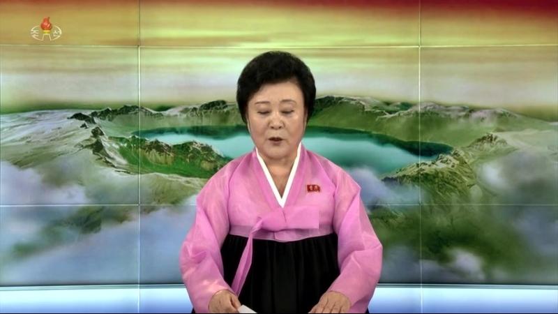 경애하는 최고령도자 김정은동지께서 문재인대통령과 오찬을 함께 하시였다