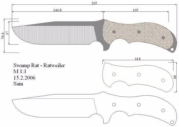 Чертежи ножей!