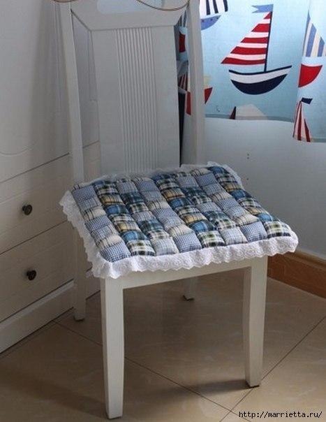 Шьем сами мягкую сидушку для стула. (9 фото)