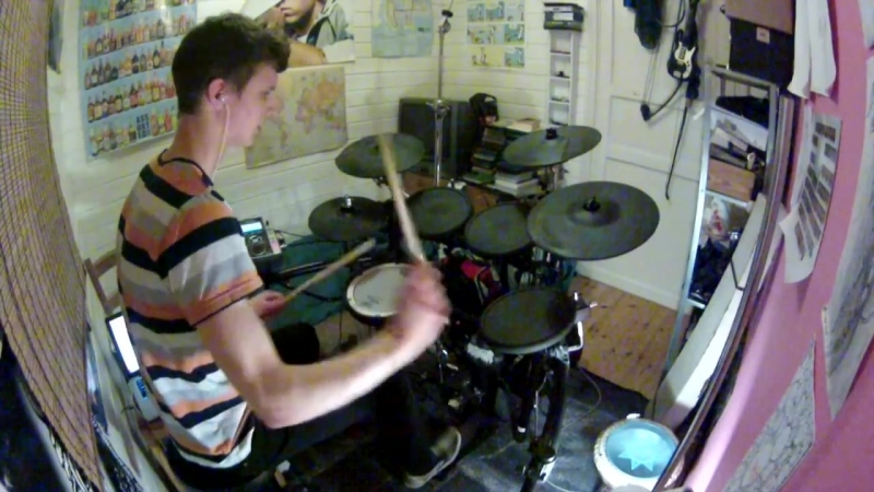 Infected Mushroom - U R So Fcked drum cover by Theo Saenger