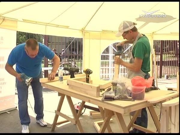 Во дворах Самары появятся деревянные горки и скамейки, сделанные руками жителей