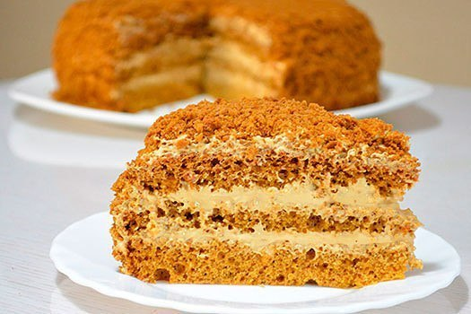Торт медовым кремом рецепт фото
