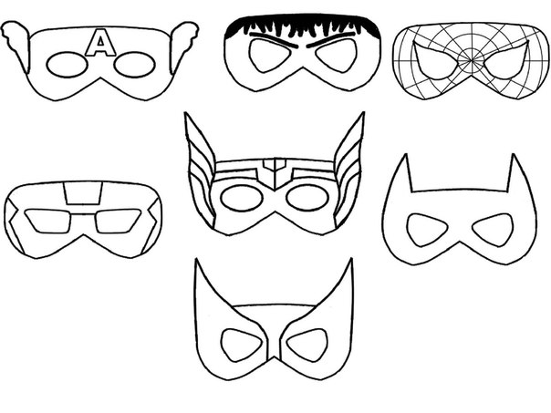 Маски для супергероев шаблоны