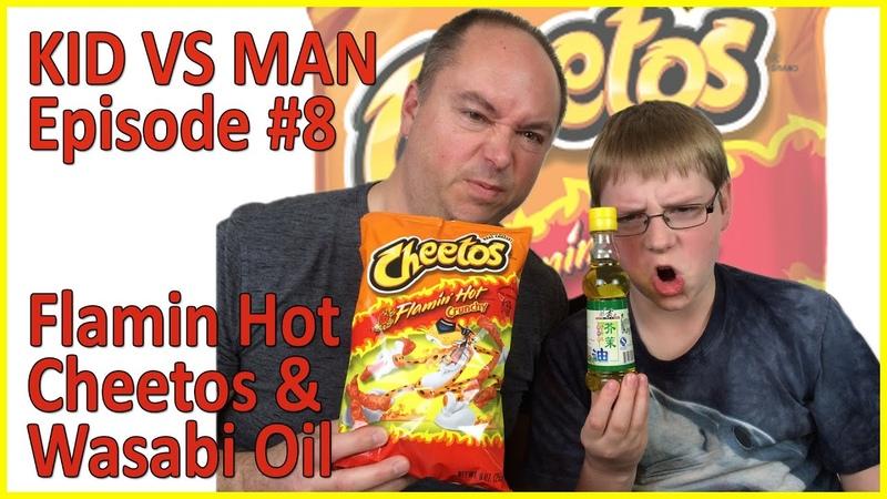 Kid vs Man ... Flamin' Hot Cheetos Wasabi Oil Challenge : Episode 8, Crude Brothers